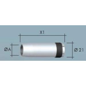 Tūta kūginė NW15,5 I=62mm, Binzel