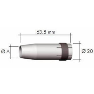 Gas nozzle, tapered for MB24 10mm, Binzel