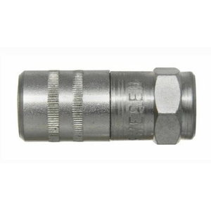 "Grease nozzle with non return valve G1/8"" (f) Ø15 mm 4 jaws, Orion"