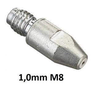 Contact tip CuCrZr silver-plated M8x30x10-1,0mm, Binzel