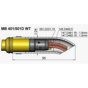 Kontaktsuudmik R36 CuCrZr painut.hõbet.MB401/501 M8 1,0mm