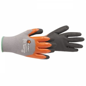 Gloves, two nitrile coating, 10/XL