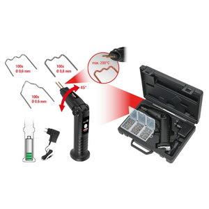Hot stapler set for plastic repair (cordless), 302 pcs, Kstools
