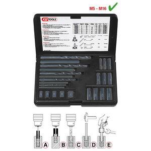 Thread extractor se M6-M16 25pcs, KS Tools