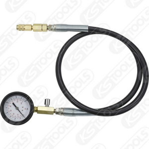 Manometer with tube, 10 bar, KS Tools