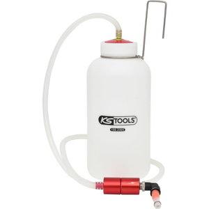 Pidurite õhutamise pudel koos tagasivoolu klapiga  1L, KS Tools