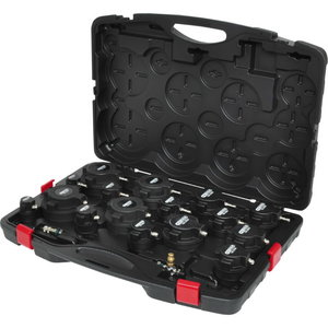 Turbo system pressure tester kit with stepped adaptor, Kstools