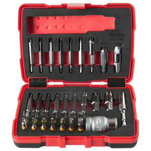 "1/4 ""+ 10 mm special screw extractor set, 34 pcs., KS tools"
