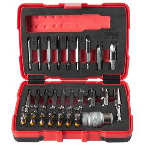 """1/4 """"+ 10 mm special screw extractor set, 34 pcs., Kstools"""