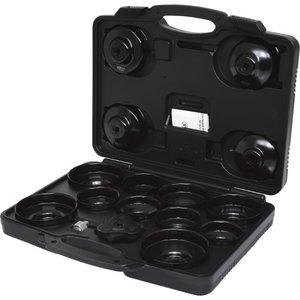 """3/8"""" oil filter socket set, cup, 16pcs, KS Tools"""