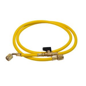 "Pressure hose plus 1/4"" SAE, 1,5 m yellow, Rothenberger"