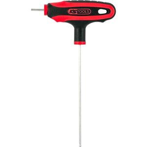 Raktas T-rankena, 4mm apvalus galas ERGO+, KS Tools