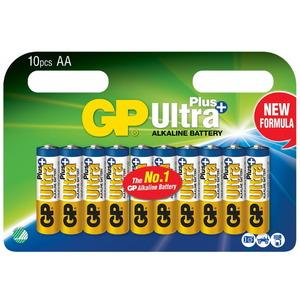 Baterijos AA/LR6, 1,5V, Ultra Plus Alkaline, 10 vnt., Gp