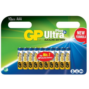 Baterijos AAA/LR03, 1,5V, Ultra Plus Alkaline, 10 vnt., Gp