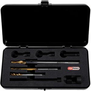 Uni glow plug drilling kit, 8pcs, M8, Kstools