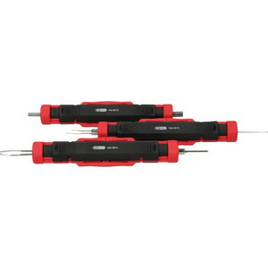 Universal cable unlocking tool set, 3 pcs., Kstools