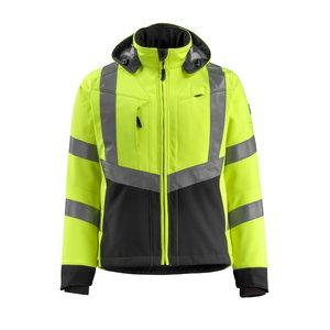 Softshell jakk kapuutsiga Blackpool kõrgnähtav CL3, kollane/ XL, Mascot