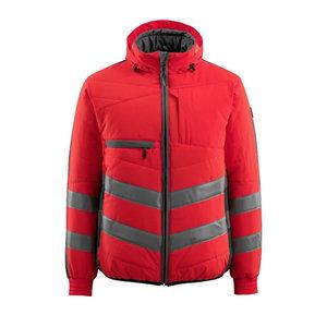 Augstas redzamības ziemas jaka Dartford, sarkana/pelēka, Mascot