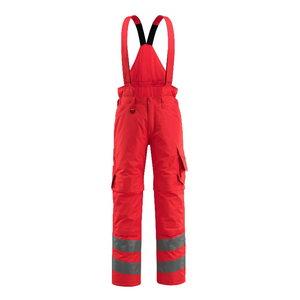 Talve tööpüksid traksidega Ashford kõrgnähtav punane, Mascot