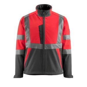 Softshell jakk Kiama kõrgnähtav CL2, punane/hall XL, Mascot