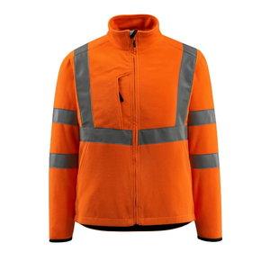 Augstas redzamības flīsa jaka Mildural, oranža, L izmērs L, Mascot