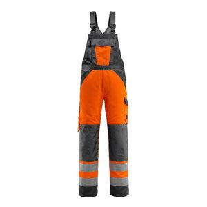 Hi.vis. bib-trousers Gosford orange/gray, Mascot