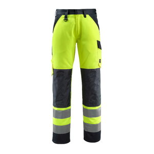 Kõrgnähtavad püksid Maitland kollane/t.sinine, Mascot