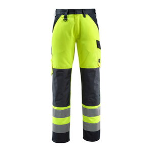 Hi.vis. trousers Maitland yellow/navy 82C52, Mascot