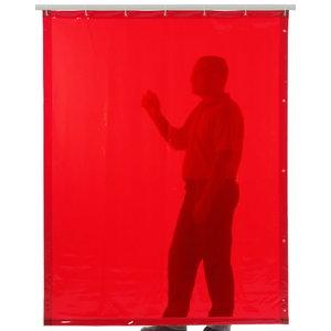 Suvirinimo užuolaida 180x140cm, oranžinė