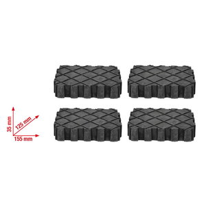 Universal rubber mat set for lifting platform 4 pcs, KS Tools