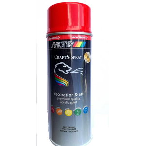 Spray paint CRAFTS RAL 3020 traffic red 400ml, Motip