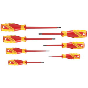 VDE Screwdriver set 7 pcs IS 2.5-6.5 PH 0-2, Gedore