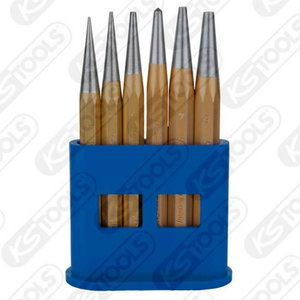 Pin punch set, 6 pcs in plastic stands, KS Tools