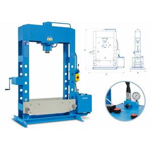 El. hydraulic press 100T, piston stroke 310mm, OMCN