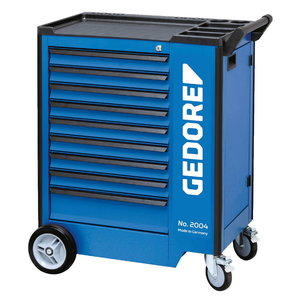 2004 0810 vežimėlis įrankiams, 9 stalčiai be įrankiu, Gedore