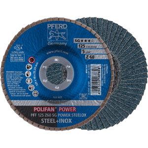 Vėduoklinis diskas 125mm Z60 SG POWER STEELOX PFF, Pferd