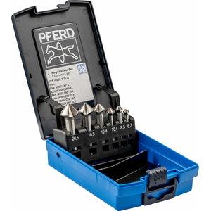 Countersink set 6pcs KES HSSE Co5 C90° 6,3-20,5mm, Pferd