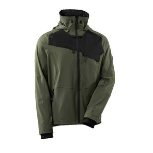 Jacket Advanced, 17001 four-way stretch, moss green/black M, Mascot