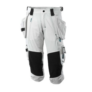 ¾ ilgio kelnės, su kišenėmis-dėklais Advanced, balta C48, Mascot