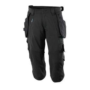 ¾ ilgio kelnės, su kišenėmis-dėklais Advanced, juoda C52, , Mascot