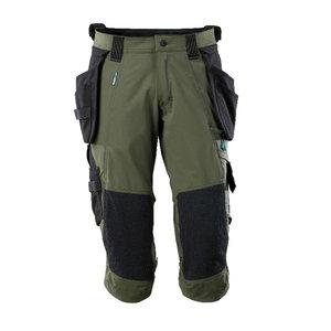 ¾ ilgio kelnės, su kišenėmis-dėklais Advanced, samanų žalia C52, , Mascot