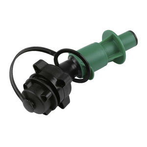 Quick fill valve for chain oil canister RP, green