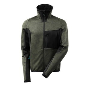 Flīsa jaka Advanced 17103, sūnu zaļa/melna L, Mascot