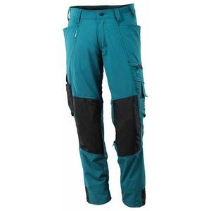 Darba bikses Advanced, tumši zili zaļas/tumši zilas, Mascot