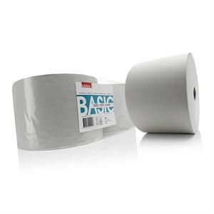 Popierinių šluosčių ritinys  Basic,1000 m, 2 vnt., Satino