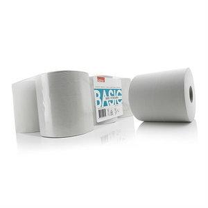 Popierinių šluosčių ritinys  Basic, 300 m, 6 vnt., Satino