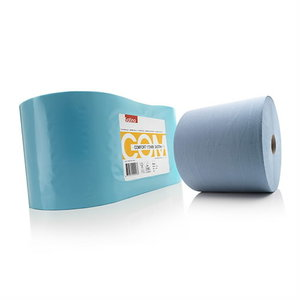 Comfort wiping rolls blue, 2- ply, 370 m, Satino