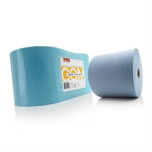 COMFORT šluosčių rulonas 370 m, mėlynas (pakuotėje 2vnt), Satino