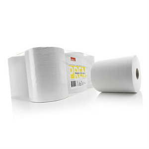 Wiping roll  premium 180m white, Satino