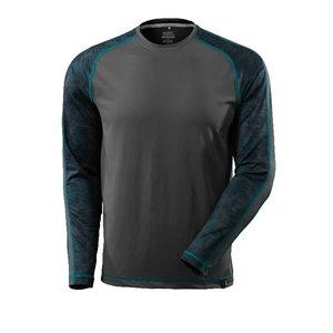 Marškinėliai Advanced, ilgom rankovėm, tamsus antracitas, Mascot